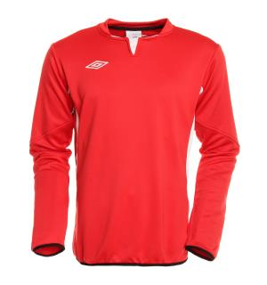 UMBRO Vision Tr Sweat jr Rød/Hvit 164 Teknisk treningsgenser for barn