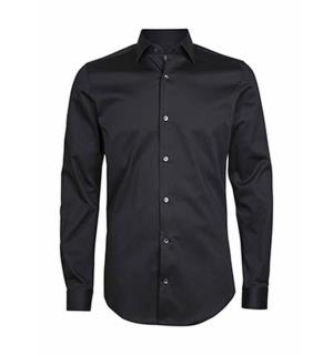 ST Excl. Strech Shirt Slim Sort M Passform: Slim fit